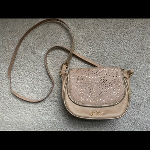 Jessica Simpson crossbody purse rose gold NWOT